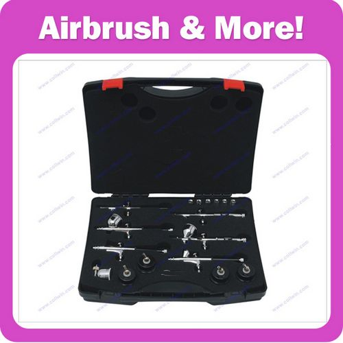 Airbrush Kit with 6 Different Airbrushes