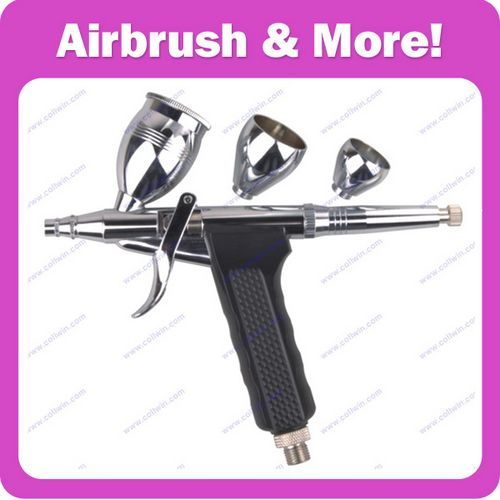 Airbrush Spray Gun with 2CC/7CC/12CC CUP