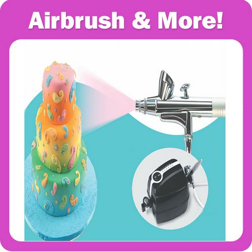 Cake Decoration Airbrush Kit with Mini Compressor